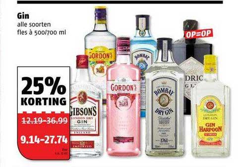 Poiesz Gin 25% Korting