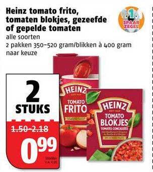 Poiesz Heinz Tomato Frito, Tomaten Blokjes, Gezeefde Of Gepelde Tomaten
