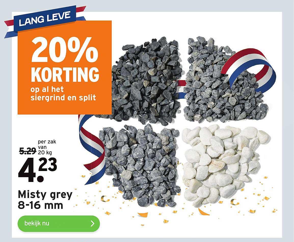 Gamma Misty Grey 8-16 Mm 20% Korting