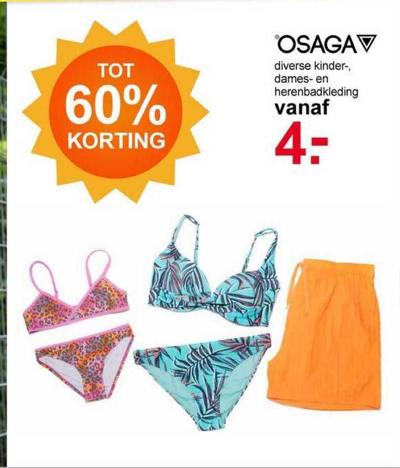 Scapino Osaga Diverse Kinder-, Dames- En Herenbadkleding Tot 60% Korting