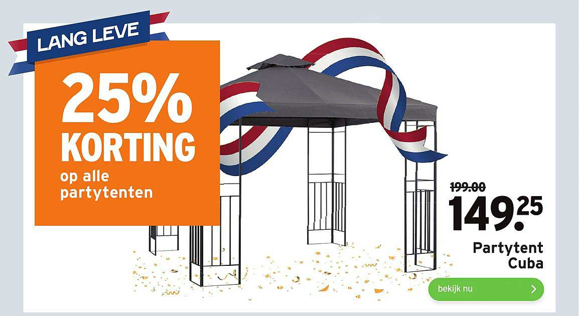 Gamma Partytent Cuba 25% Korting
