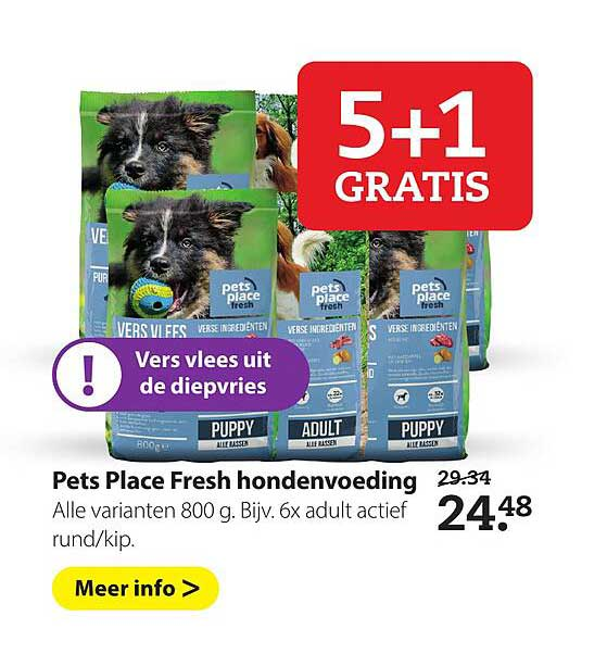 Boerenbond Pets Place Fresh Hondenvoeding 5+1 Gratis