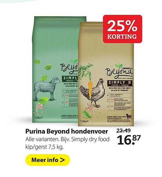 Boerenbond Purina Beyond Hondenvoer 25% Korting