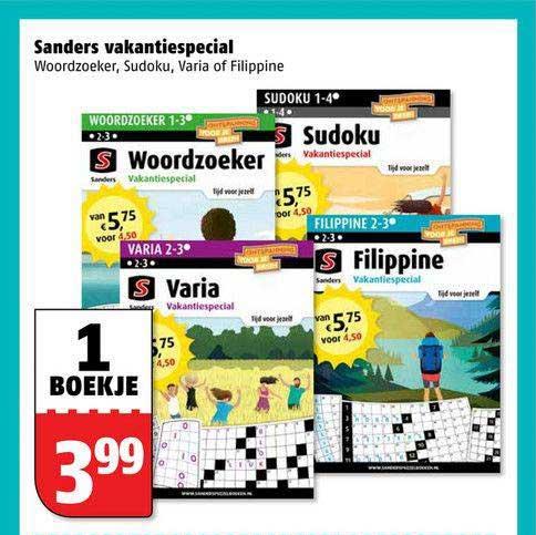 Poiesz Sanders Vakantiespecial : Woordzoeker, Sudoku, Varia Of Filippine