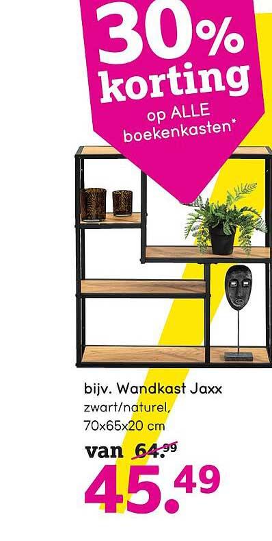 Leen Bakker Wandkast Jaxx 70x65x20 Cm 30% Korting