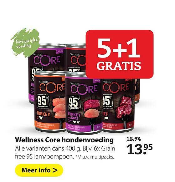 Boerenbond Wellness Core Hondenvoeding 5+1 Gratis