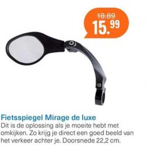 Halfords Fietsspiegel Mirage De Luxe