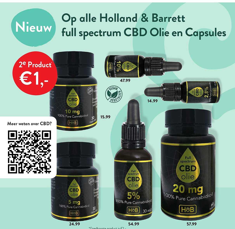 Holland & Barrett Op Alle Holland & Barrett Full Spectrum CBD Olie En Capsules