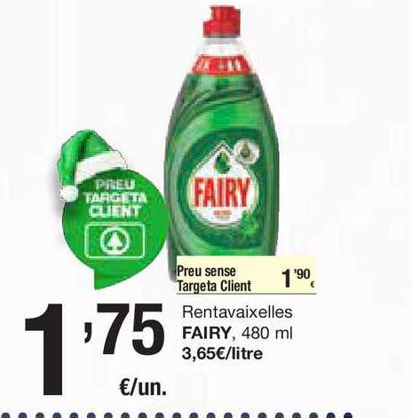 SPAR Fragadis Rentavaixelles Fairy, 480 Ml
