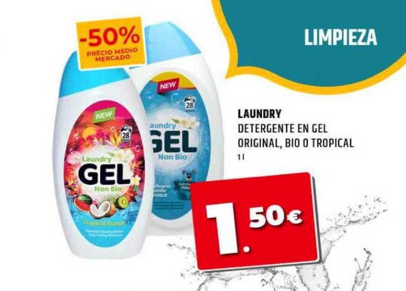 Dealz Laundry Detergente En Gel Original Bio O Tropical