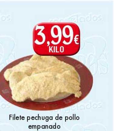 Congelados Copos Filete Pechuga De Pollo Empanado