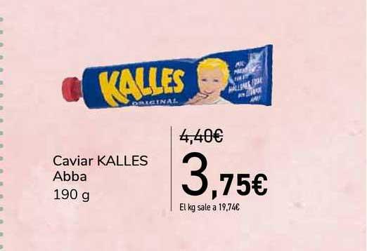 Carrefour Caviar Kalles Abba