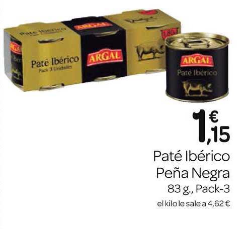 Supermercados El Jamón Paté Ibérico Peña Negra