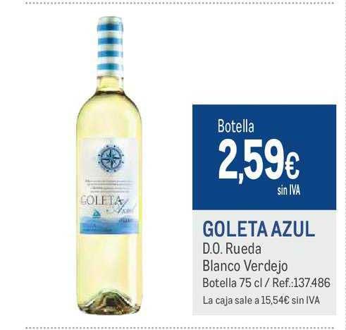 Makro Goleta Azul D.O. Rueda Blanco Verdejo Botella 75 Cl