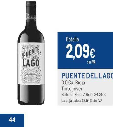 Makro Puente Del Lago D.O.Ca. Rioja Tinto Joven Botella 75 Cl