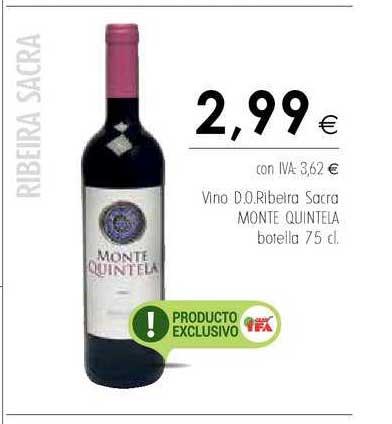 Cash Ifa Vino D.o. Ribeira Sacra Monte Quintela Botella 75 Cl