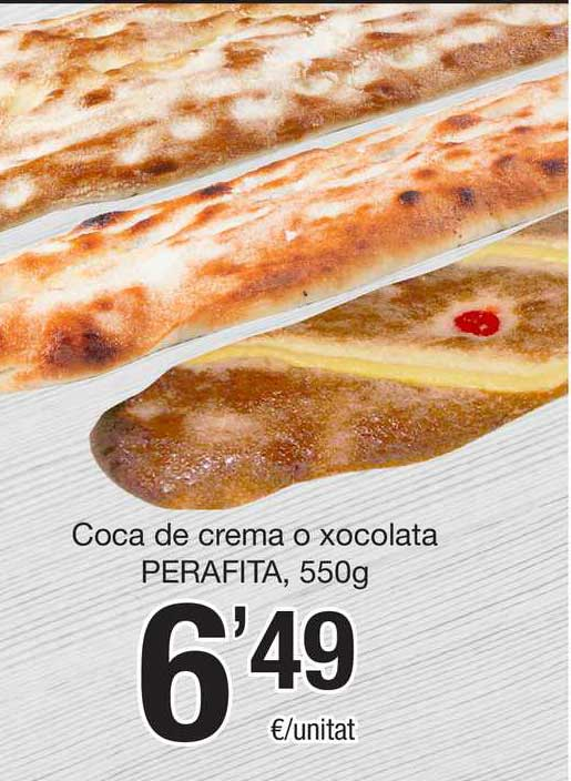 SPAR Fragadis Coca De Crema O Xocolata Perafita, 550g