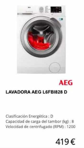 Milar Lavadora Aeg L6fb1828 D