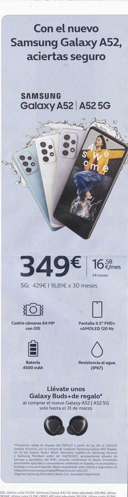 Movistar Samsung Galaxy A52 ∕ A52 5g