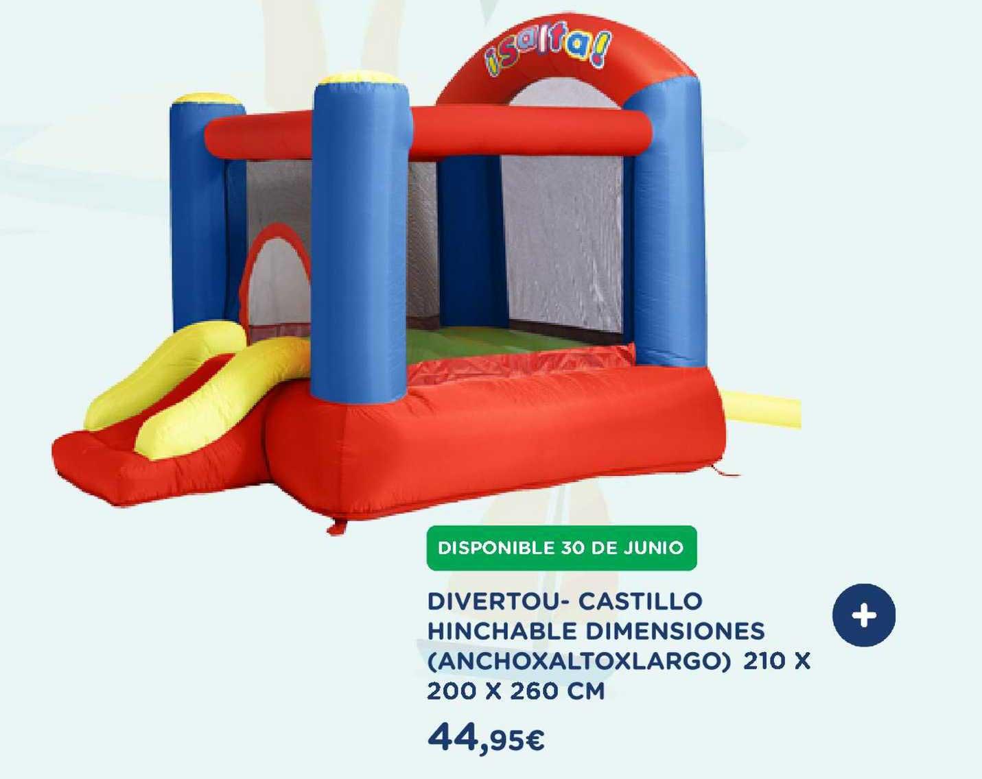 El Corte Inglés Divertou- Castillo Hinchable Dimensiones Anchoxaltoxlargo 210 X 200 X 260 Cm