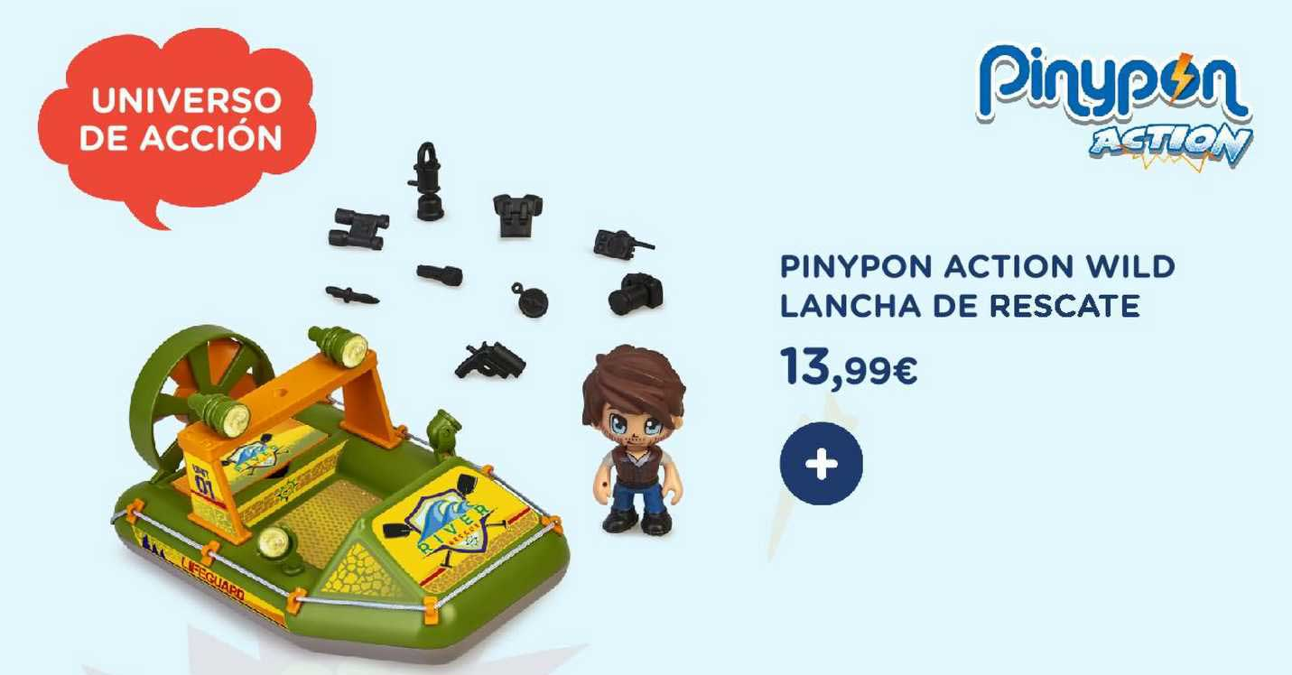 Pinypon Action Wild Lancha de Rescate