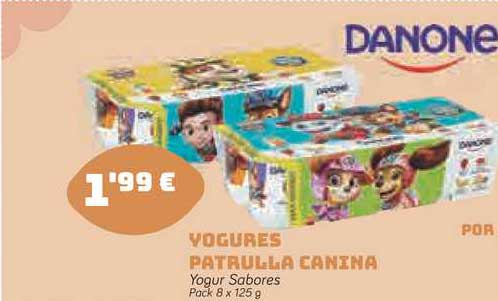 Supermercados Codi Yogures Patrulla Canina Yogur Sabores