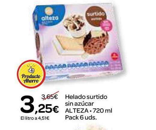 Dialprix Helado Surtido Sin Azúcar Alteza, 720ml