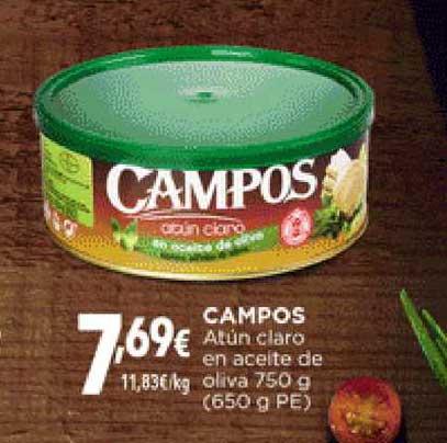 Hiber Campos Atún Claro En Aceite De Oliva 750 G (650 G PE)