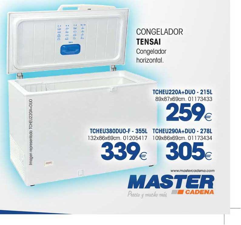 Master Cadena Congelador Tensai Congelador Horizontal