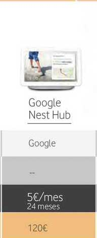 Vodafone Google Nest Hub