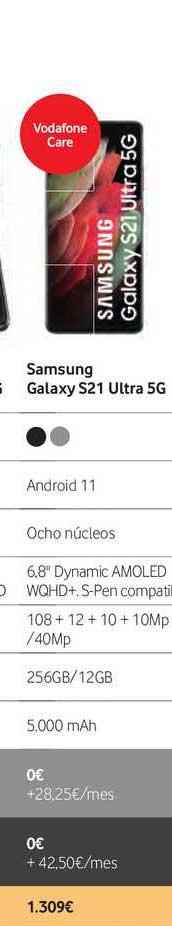 Vodafone Samsung Galaxy S21 Ultra 5g