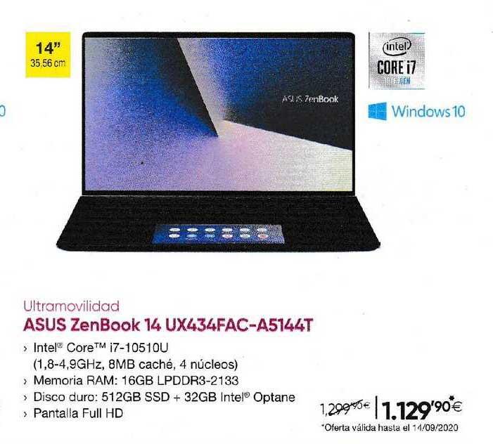 Fnac ASUS Zenbook 14 UX434FAC-A5144T