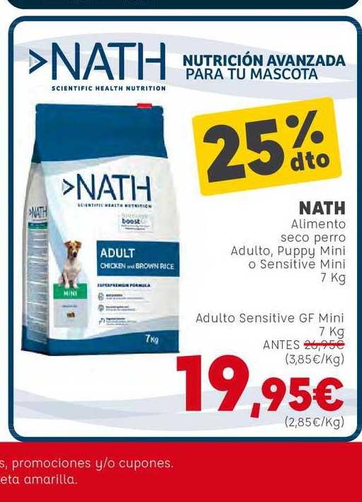Kiwoko 25% Dto Nath Alimento Seco Perro Adulto, Puppy Mini O Sensitive Mini 7 Kg