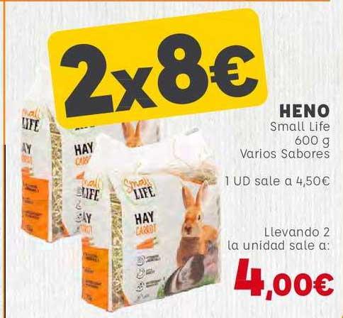 Kiwoko 2x8€ Heno Small Life 600 G Varios Sabores
