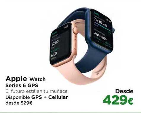El Corte Inglés Apple Watch Series 6 GPS Disponible GPS + Cellular