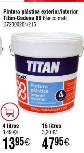 Cadena88 Pintura Plástica Exterior ∕ Interior Titán- Cadena 88