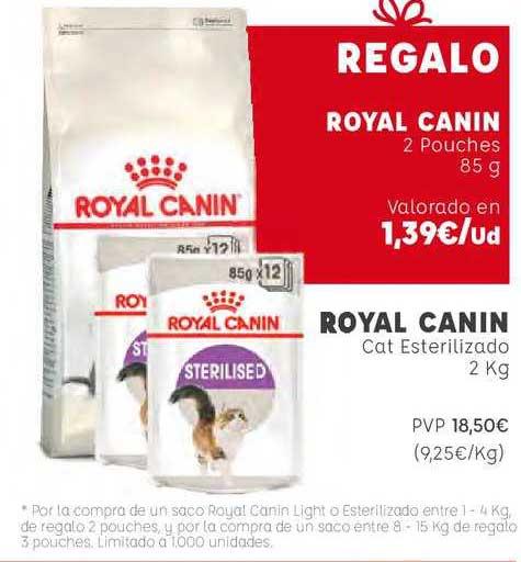Kiwoko Royal Canin Cat Esterilizado 2 Kg Regalo Royal Canin 2 Pouches 85 G