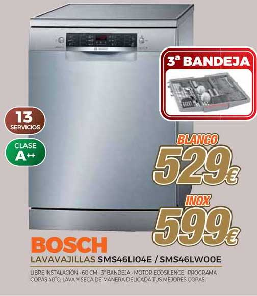 Expert Bosch Lavavajillas SMS46LIO4E ⁄ SMS46LWOOE