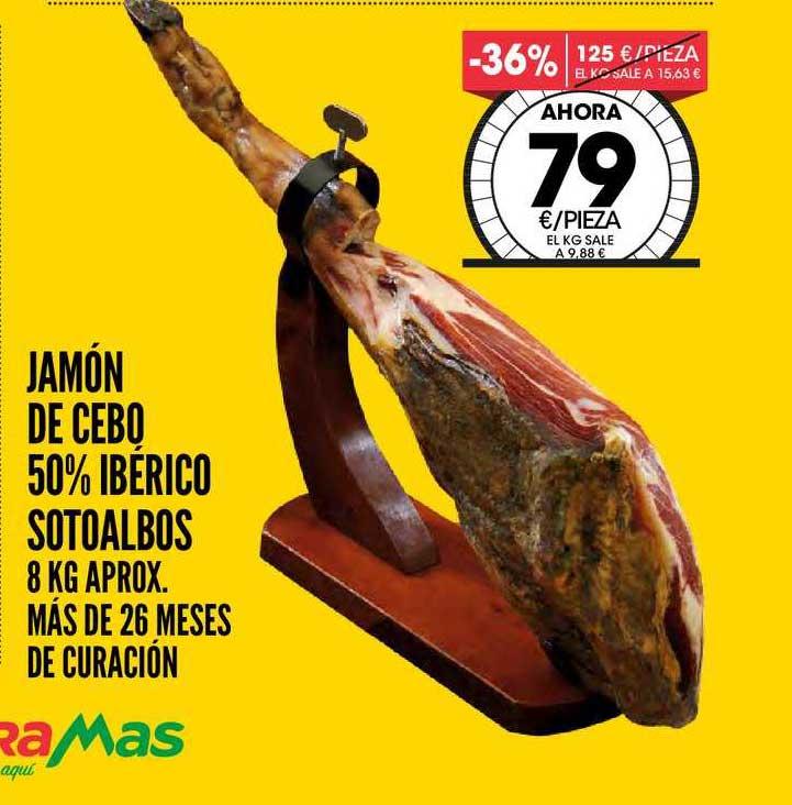 AhorraMas Jamón De Cebo 50% Ibérico Sotoalbos