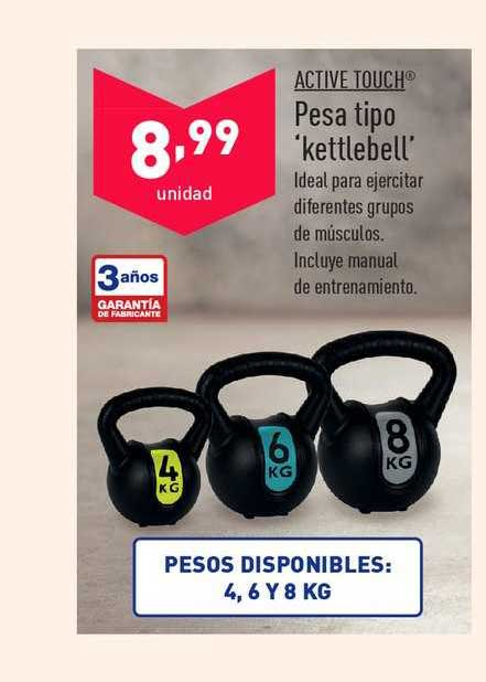ALDI Active Touch Pesa Tipo 'kettlebell'