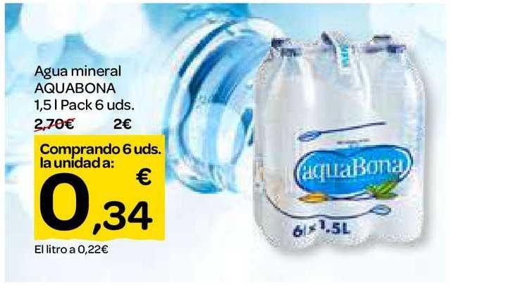 Dialprix Agua Mineral Aquabona 1.5 L Pack 6 Uds.