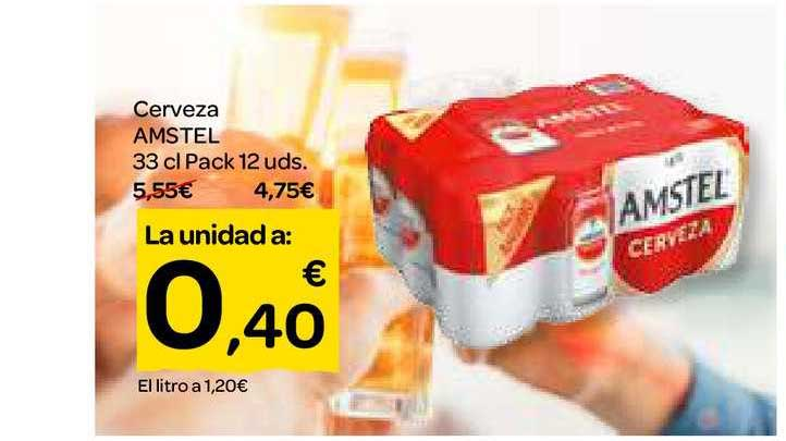 Dialprix Cerveza Amstel 33 Cl Pack 12 Uds.