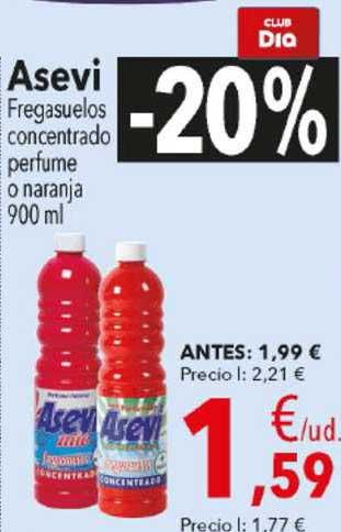 Clarel -20% Asevi Fregasuelos Concentrado Perfume O Naranja 900ml