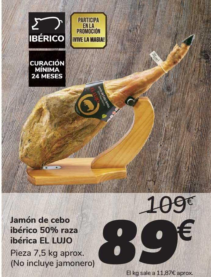 Carrefour Market Jamón De Cebo Ibérico 50% Raza Ibérica EL LUJO