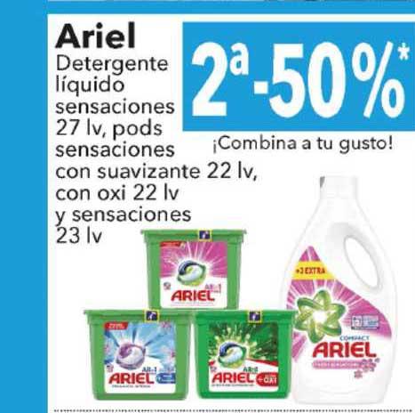 Clarel 2ᵃ-50% Ariel Detergente Líquido