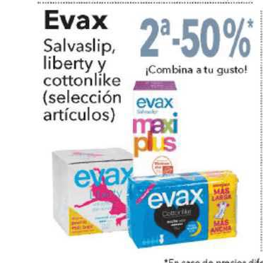 Clarel 2ᵃ-50% Evax Salvaslip, Liberty Y Cottonlike