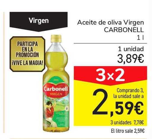 Carrefour Market 3x2 Aceite De Oliva Virgen CARBONELL 1l