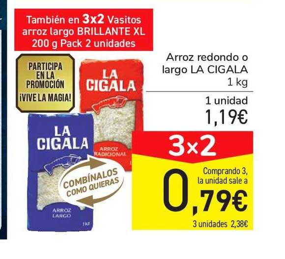 Carrefour Market 3x2 Arroz Redondo O Largo LA CIGALA 1kg