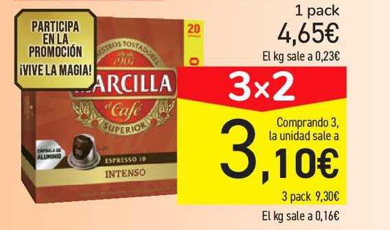 Carrefour Market 3x2 Café MARCILLA