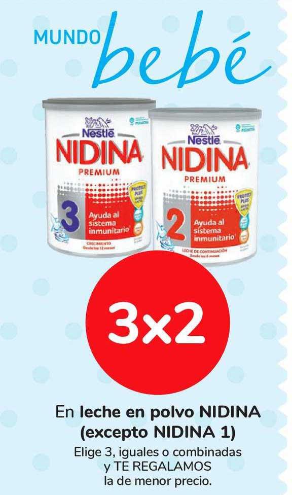 Carrefour Market 3x2 En Leche En Polvo NIDINA (excepto NIDINA 1)